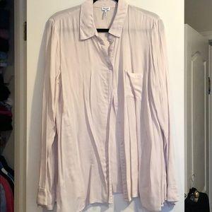 Splendid soft rayon button down blouse beige pink